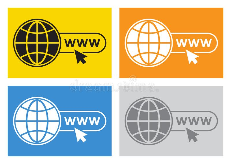 网站象彩色组  向量 向量例证