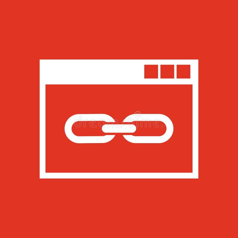 网站链接象 网站、万维网和浏览器,发展, seo标志 Ui 网 徽标 标志 平的设计 阿帕卢萨马 符号 向量例证