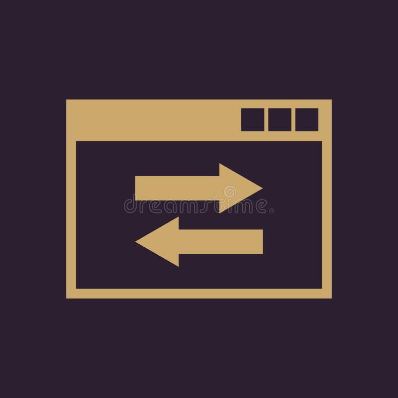 网站链接象 网站、万维网和浏览器,发展, seo标志 Ui 网 徽标 标志 平的设计 阿帕卢萨马 符号 库存例证
