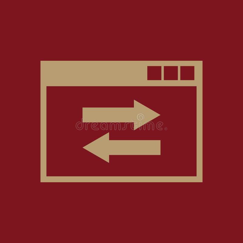 网站链接象 网站、万维网和浏览器,发展, seo标志 Ui 网 徽标 标志 平的设计 阿帕卢萨马 符号 皇族释放例证