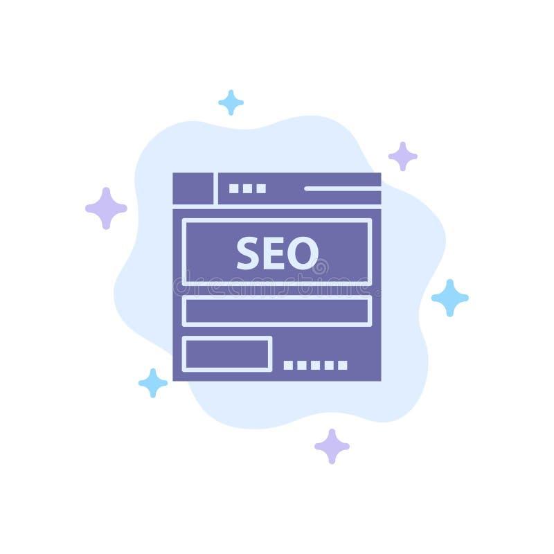 网站,服务器,数据,主持,Seo,在抽象云彩背景的技术蓝色象 向量例证