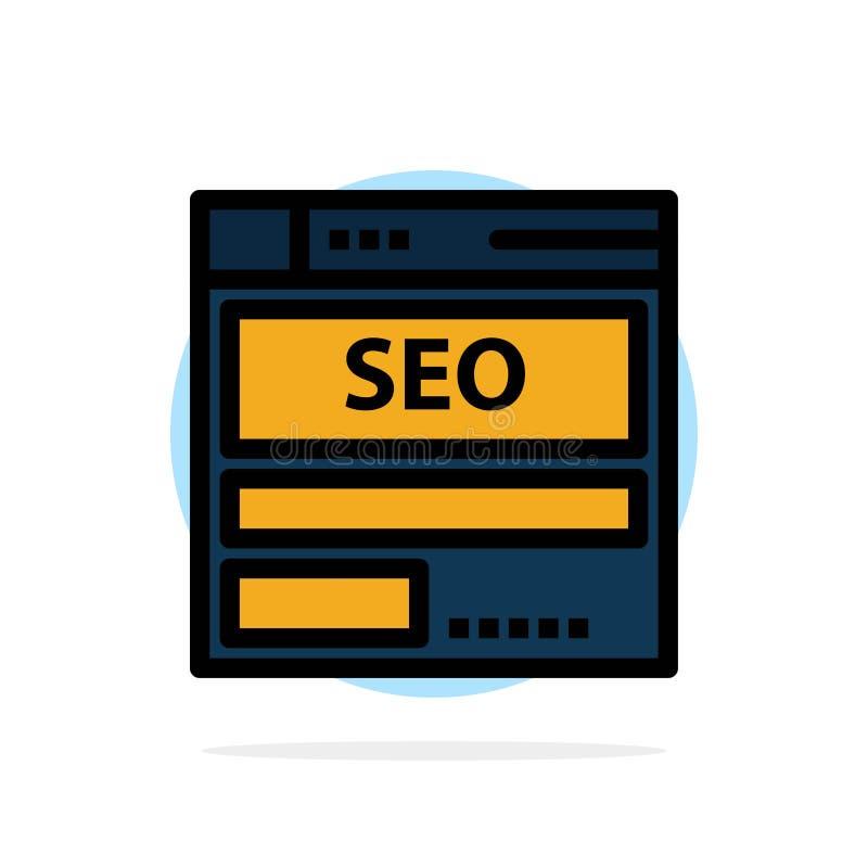 网站,服务器,数据,主持,Seo,技术抽象圈子背景平的颜色象 向量例证