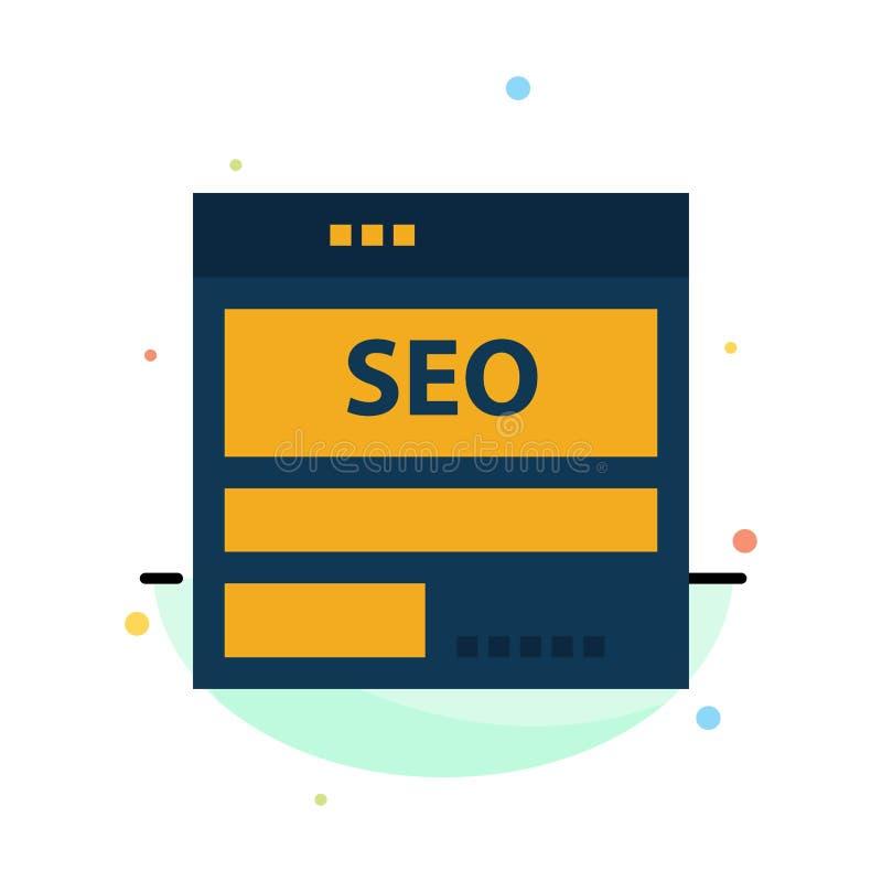 网站,服务器,数据,主持,Seo,技术摘要平的颜色象模板 库存例证