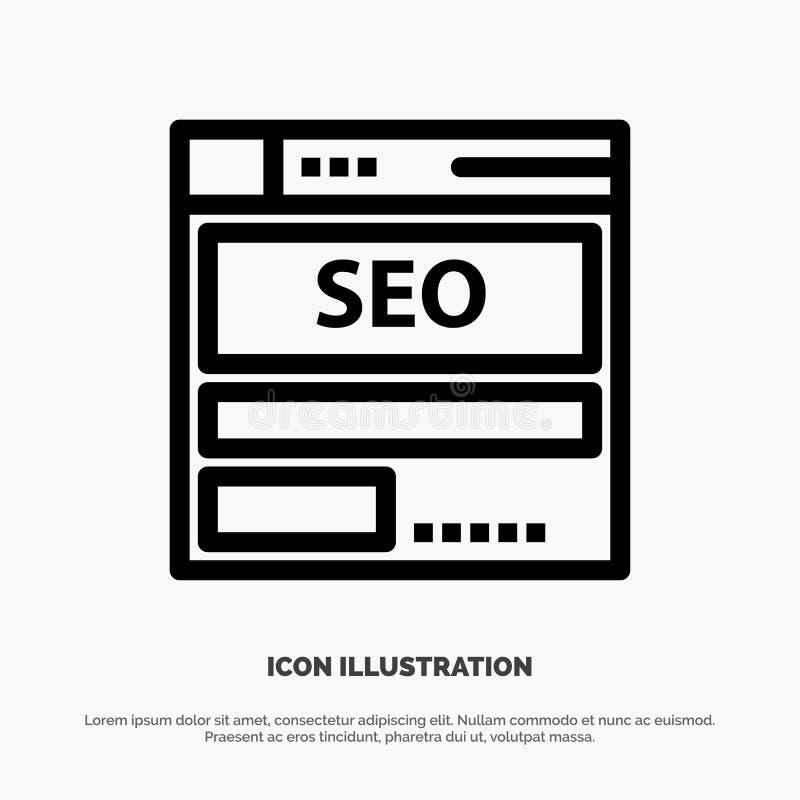 网站,服务器,数据,主持,Seo,技术线象传染媒介 皇族释放例证