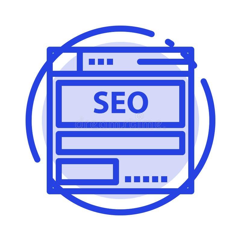 网站,服务器,数据,主持,Seo,技术蓝色虚线线象 库存例证