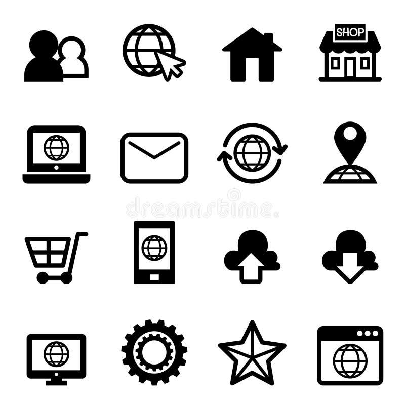 网站&互联网象 向量例证