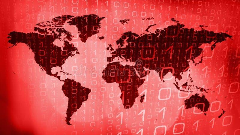 网络世界战争摘要技术概念 向量例证