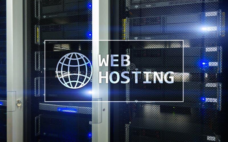 网络主持,提供仓库面积和通入为网站 向量例证
