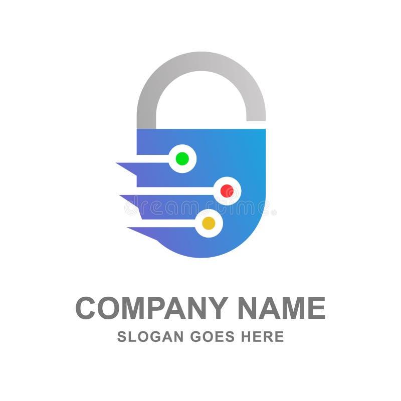 网络互联网安全商标传染媒介 免版税库存照片