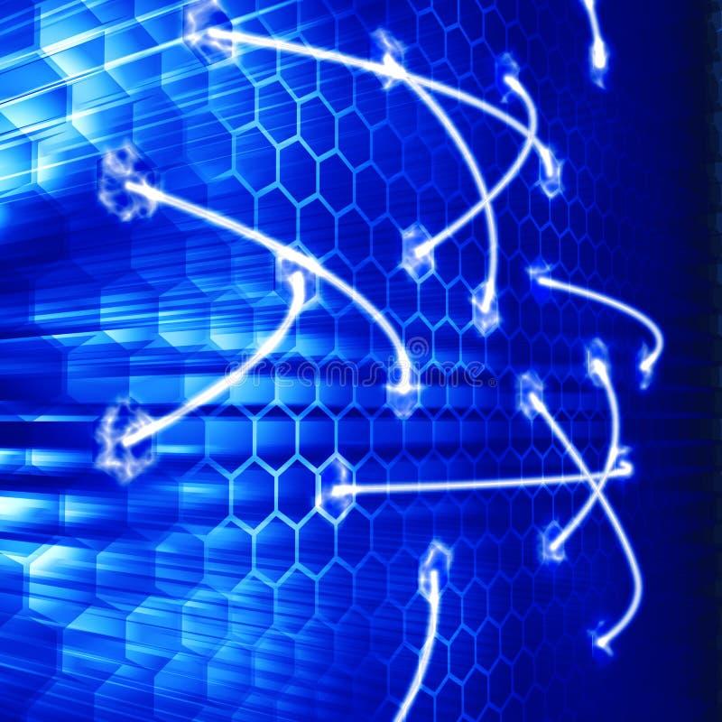 网络光芒 向量例证