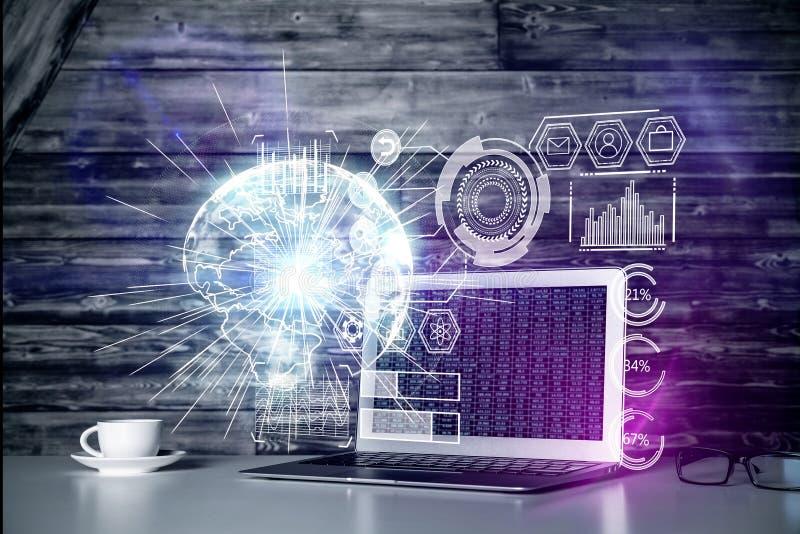 网络和未来概念 皇族释放例证