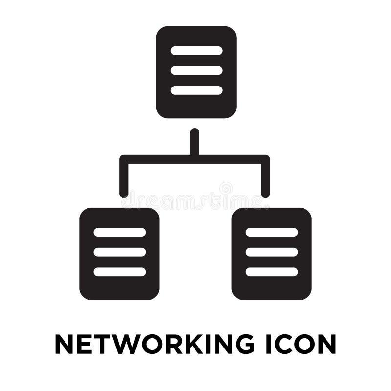 网络在白色背景隔绝的象传染媒介,商标concep 库存例证