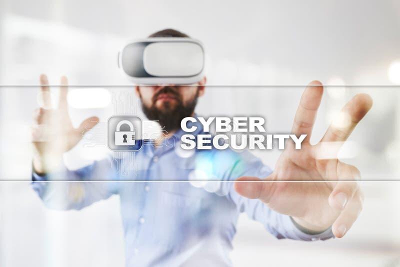 网络安全、数据保护、信息安全和加密 互联网技术和企业概念 免版税图库摄影