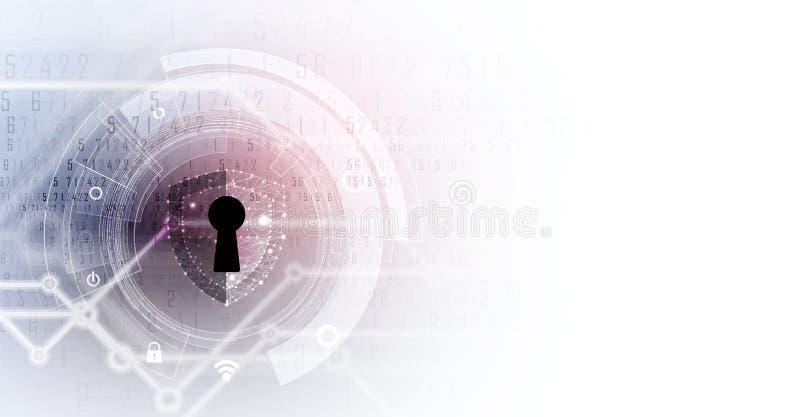 网络安全和信息或网络保护 技术的未来 皇族释放例证