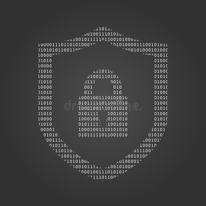 网络安全技术概念,有锁和匙孔个人资料的,例证盾 库存例证
