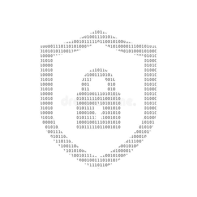 网络安全技术概念,有锁和匙孔个人资料的,例证盾 皇族释放例证