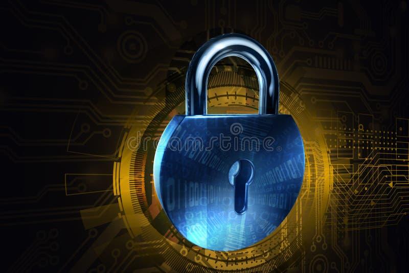 网络安全锁 库存例证