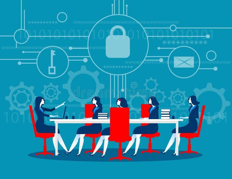 网络安全 业务会议安全 概念企业技术 库存例证