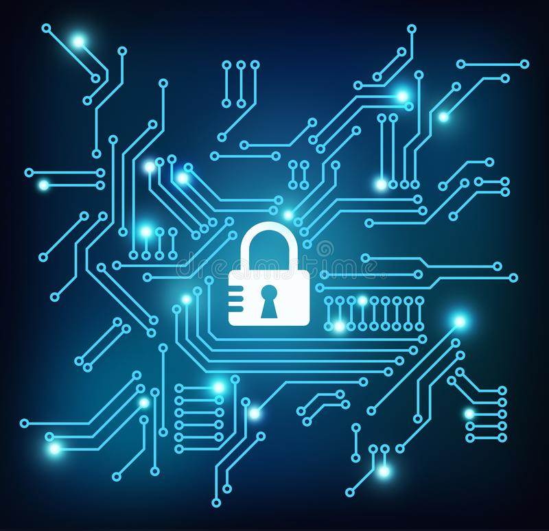 网络安全/数据保密概念例证 库存例证