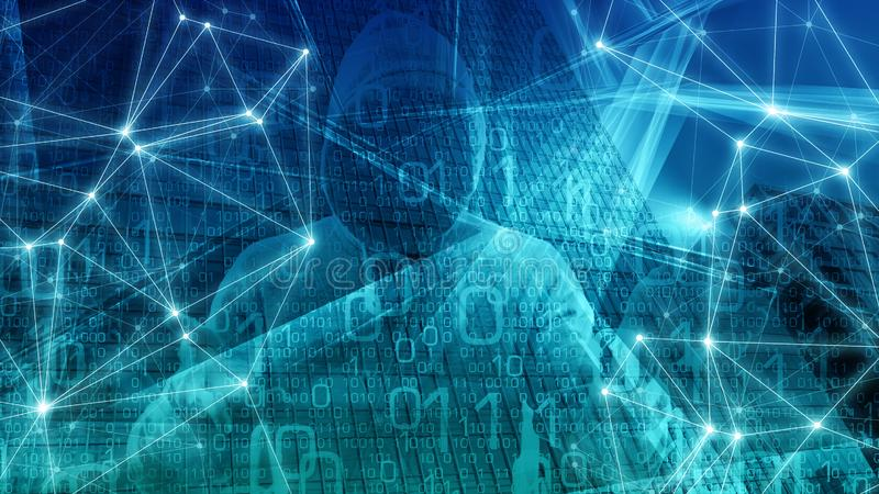 网络安全ai,大数据保密技术,计算机科学算法词,抽象背景 库存例证