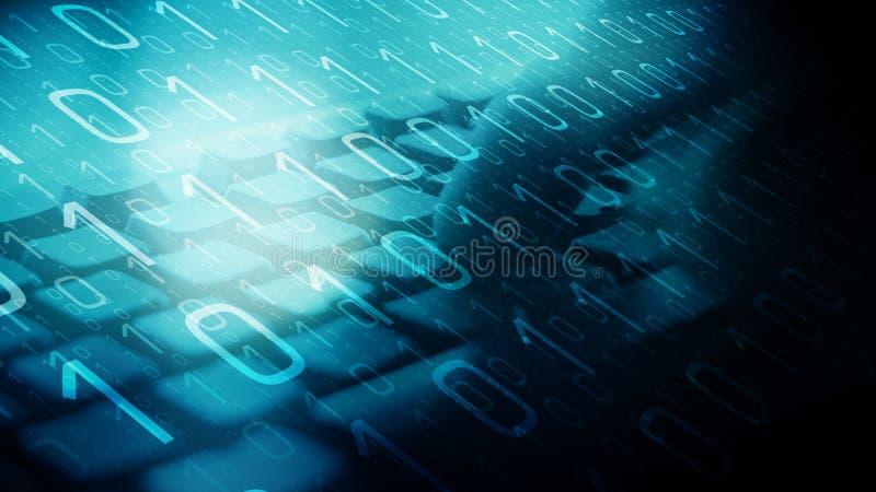 网络战争攻击,计算机算法 库存照片