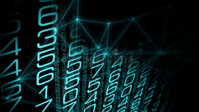 网络战争未来,连接了人工智能 库存例证