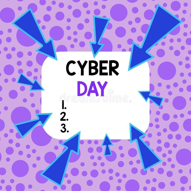 网络日 Concept meaning marketing term for the Monday after the Thanksgiving in the US Asymmetrical 向量例证