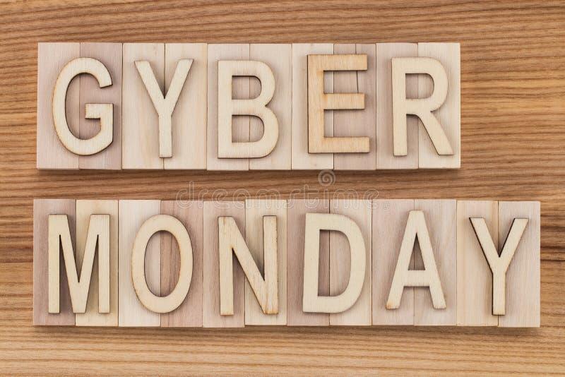 网络星期一-网上购物和营销概念-文本,求爱 库存图片