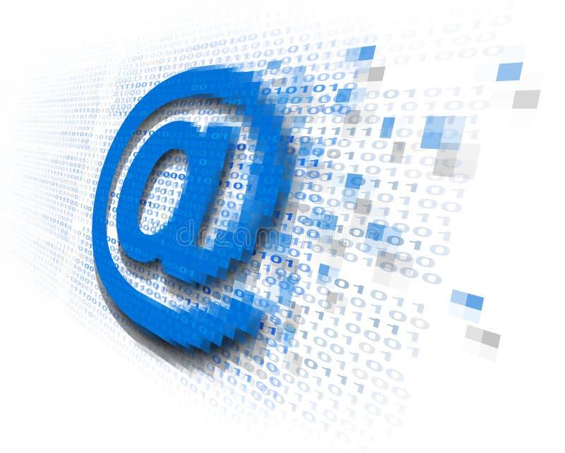 网络电子邮件安全 库存例证