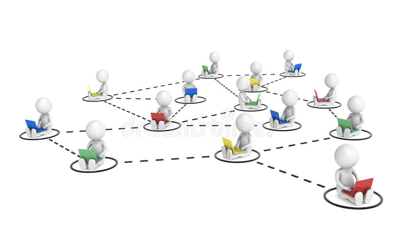 网络社交 库存例证