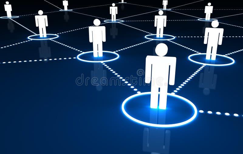 网络社交 向量例证