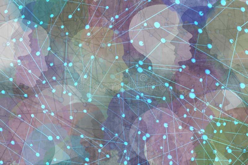 网络社区概念 向量例证