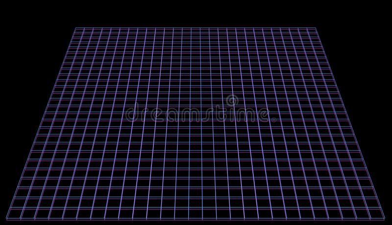 网络空间在桃红色霓虹减速火箭的样式的背景图象 库存例证