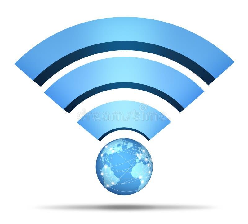 网络符号无线 库存例证