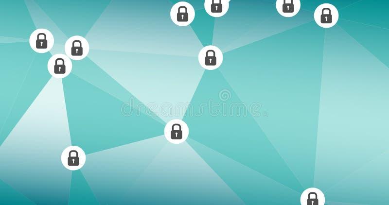 网络罪行安全,导航数字艺术 皇族释放例证