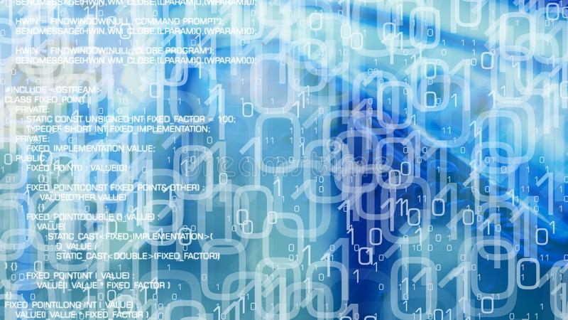 网络罪行计算机编码,从互联网的被传染的文件 皇族释放例证