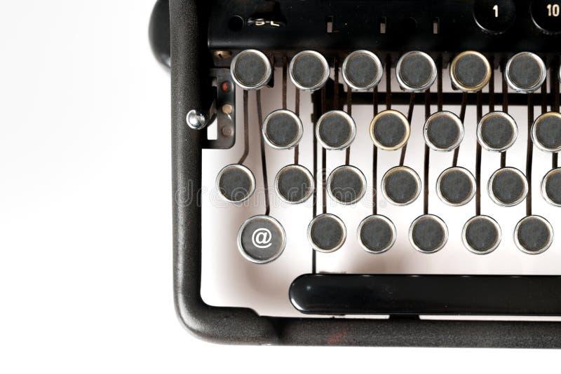 网络设计主题词关闭减速火箭的样式打字机 图库摄影