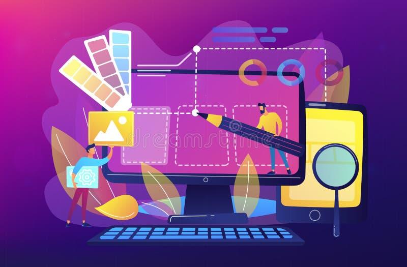 网络设计发展概念传染媒介例证 向量例证