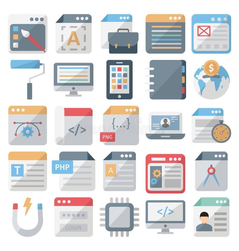 网络设计和发展被隔绝的传染媒介象设置了编辑可能 向量例证