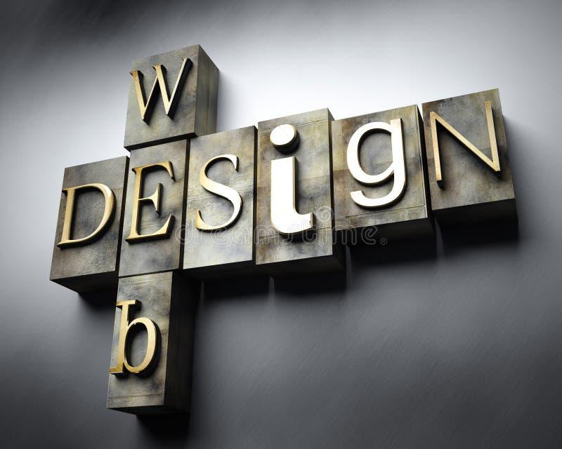 网络设计概念,葡萄酒活版文本 向量例证