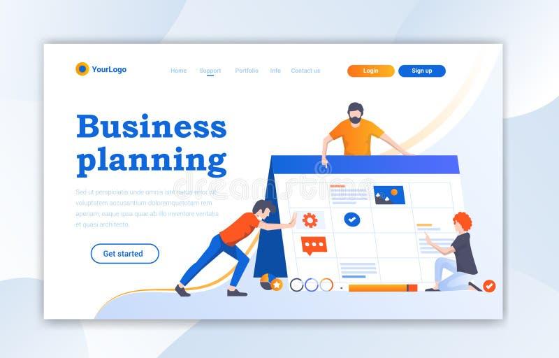 网络设计着陆页网站模板设计 网页设计的现代平的设计传染媒介例证概念网站的 库存例证