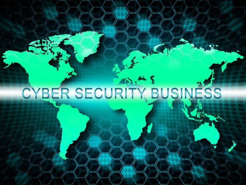网络证券市场系统保障3d例证 库存例证