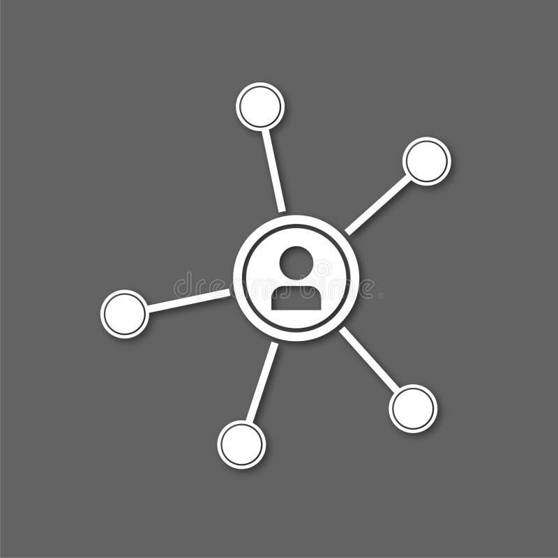 网络象传染媒介,传染媒介概念网络象 向量例证