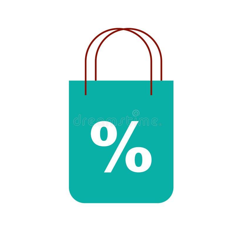 网络购物购物袋百分比贴现市场 皇族释放例证