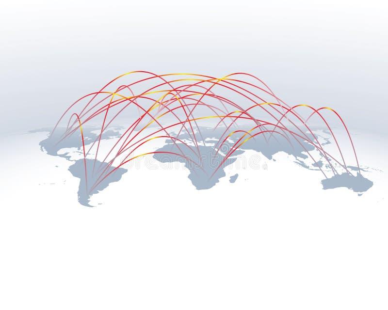 网络连接宽世界 向量例证