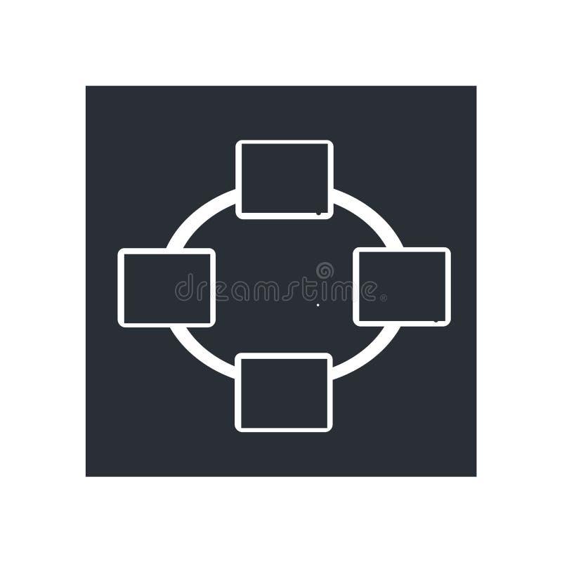 网络连接象在白色背景和标志隔绝的传染媒介标志,网络连接商标概念 向量例证