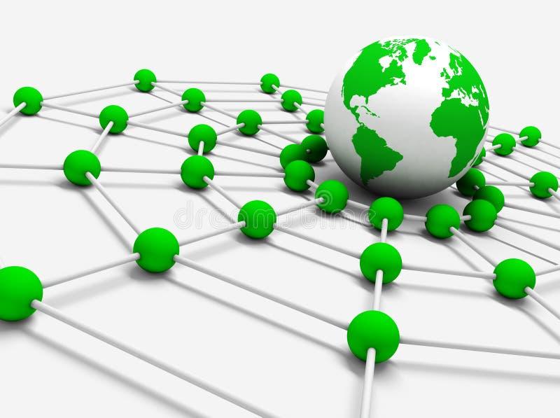 网络连接 皇族释放例证