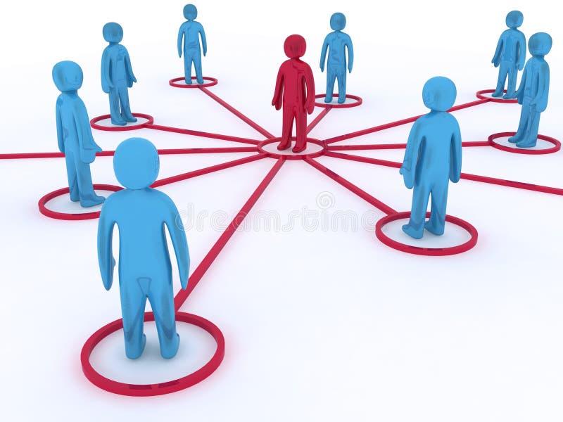 网络连接 库存例证