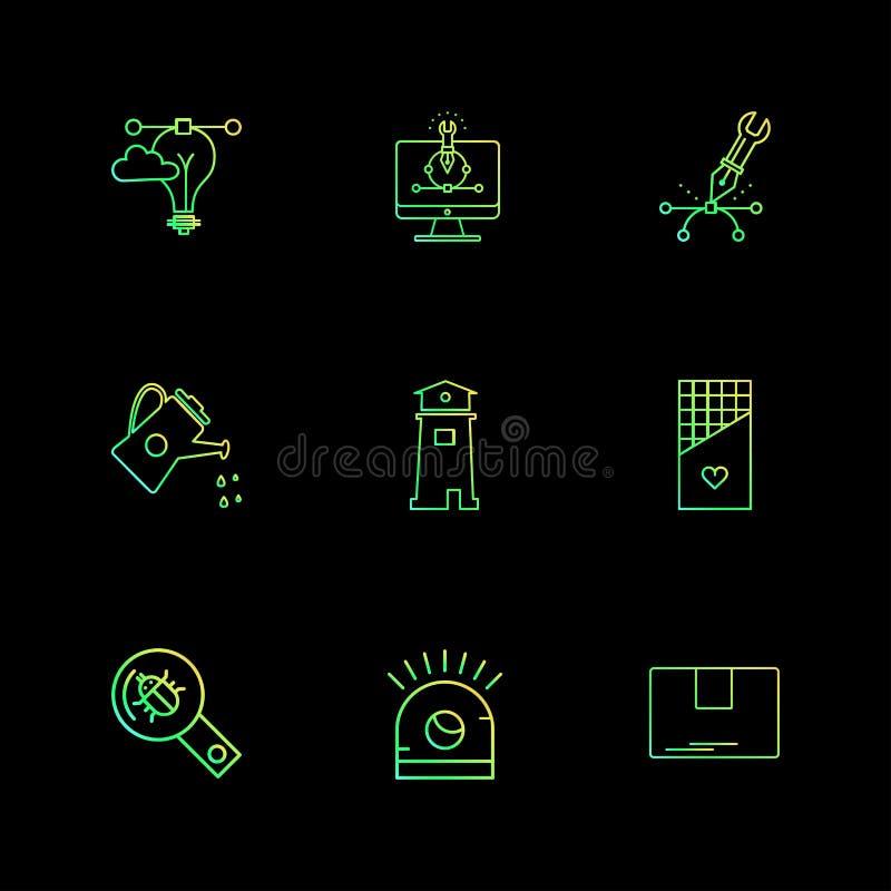 网络,安全,互联网安全,固定式项目,电灯泡, 皇族释放例证