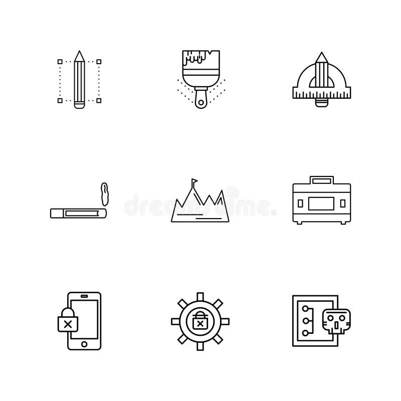 网络,安全,互联网安全,固定式项目, eps集成电路 库存例证